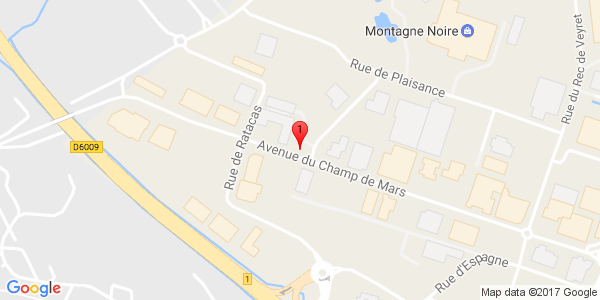 Google Map of 20 Avenue du Champs de Mars Narbonne